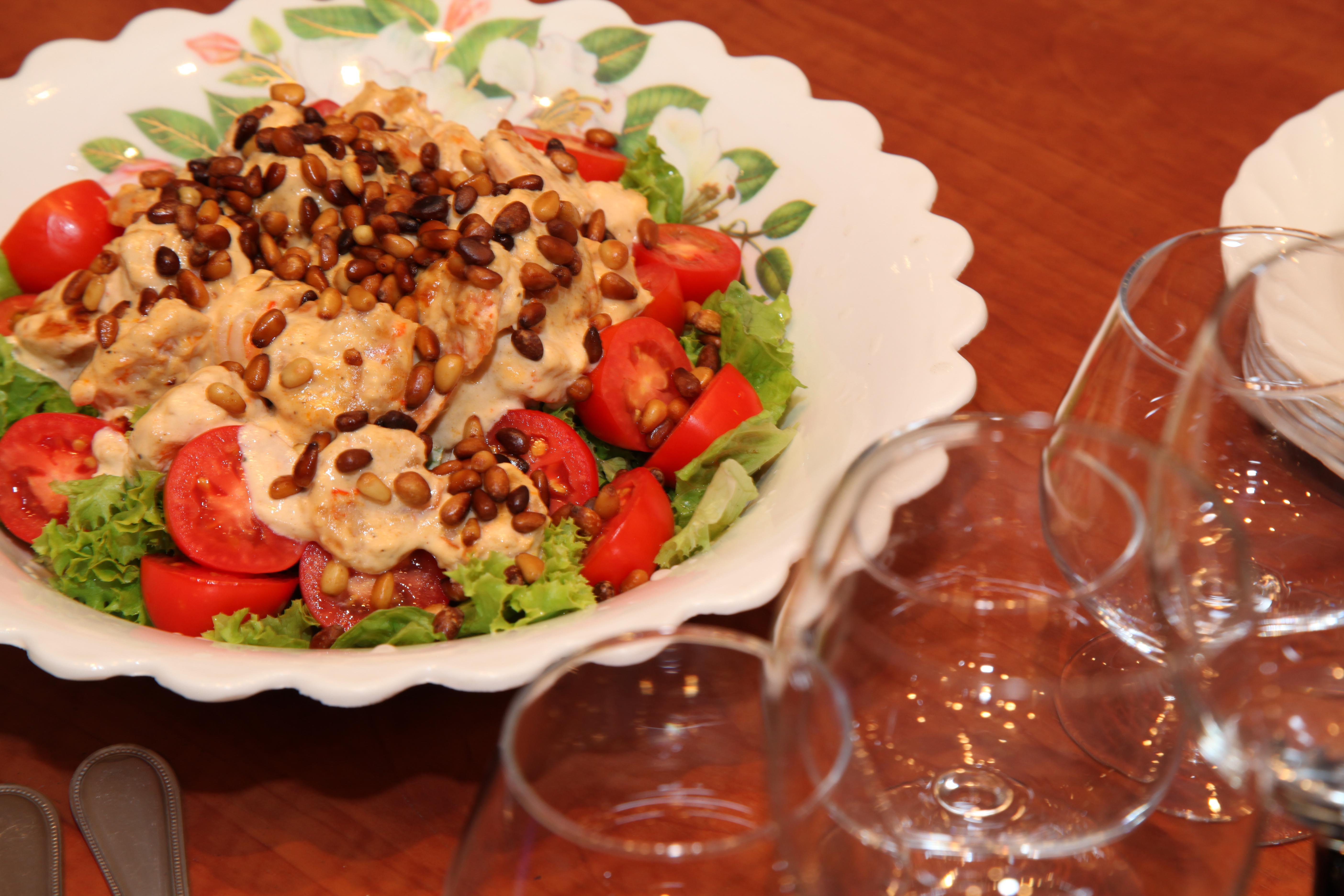Фото рецепты салатов с кедровыми орешками