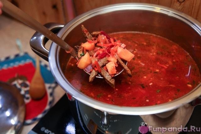 борщ из баранины рецепт с фото