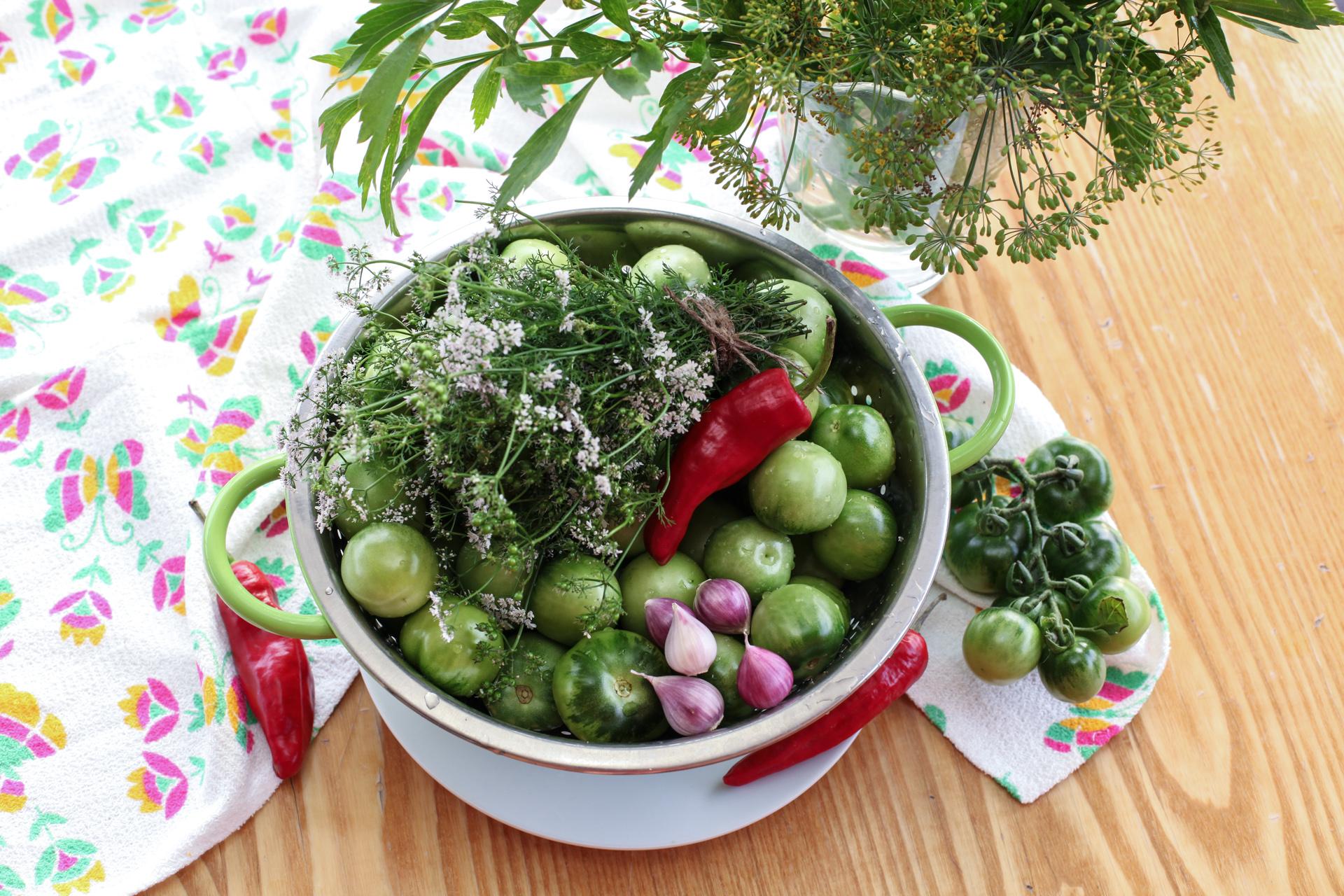 Рецепт зеленых помидор фаршированные на зимуы с фото