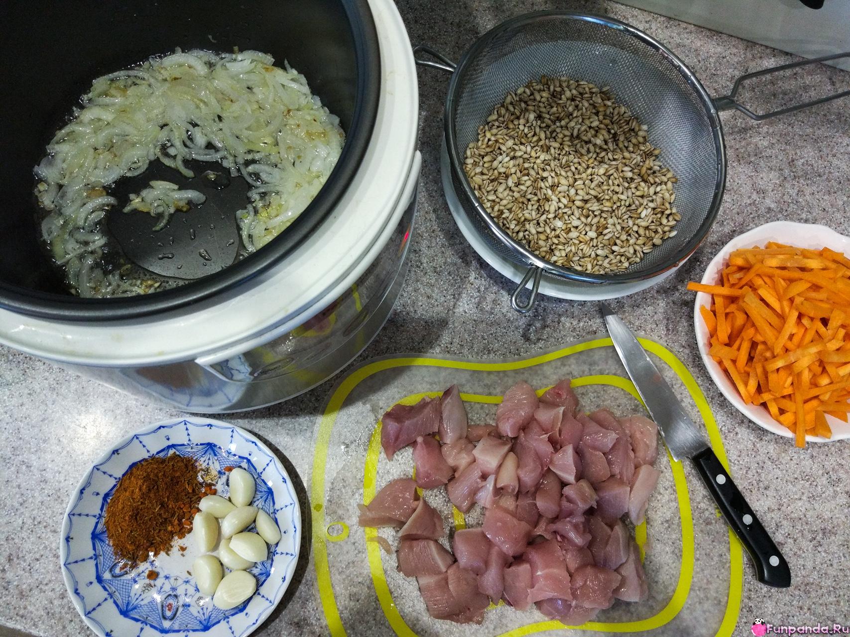 Перловка в казане с мясом рецепт